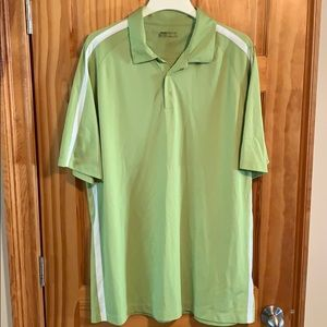 Green golf polo